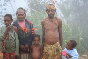 A family from Bainu asked to have their picture taken